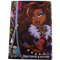 картон цветн 8л 8цв А4 Monster High 2мет д/дет творч ЕАС-MH48,MH49 152111, Monster High. Интернет-магазин Vseinet.ru Пенза
