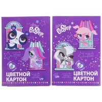 картон цветн 8цв 8л 2мет 200*290 Littlest Pet Shop д/дет творч, микс 1098788, Littlest Pet Shop. Интернет-магазин Vseinet.ru Пенза
