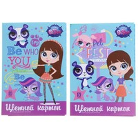 картон цветн А4 10л 10цв 5мет,5флюор Littlest Pet Shop д/дет творч, микс 1098795, Littlest Pet Shop. Интернет-магазин Vseinet.ru Пенза
