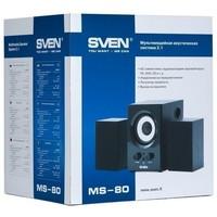 Активная акустика Sven MS-80 / 2.1 / 60 - 20000 Гц / чёрный. Интернет-магазин Vseinet.ru Пенза