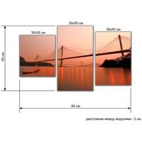 Мини Модуль на холсте Мосты 55х94 см 886662, Topposters. Интернет-магазин Vseinet.ru Пенза