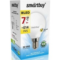 Светодиодная (LED) лампа Smartbuy E14 / P45 / 7Вт / теплый SBL-P45-07-30K-E14. Интернет-магазин Vseinet.ru Пенза