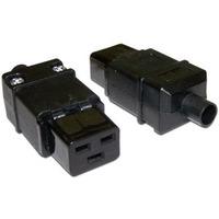 Вилка Lanmaster IEC 60320 C19 16A 250V разборная черная. Интернет-магазин Vseinet.ru Пенза