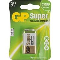Батарея GP Super Alkaline 1604A 6LR61, 1 шт 9V, 550мAч. Интернет-магазин Vseinet.ru Пенза
