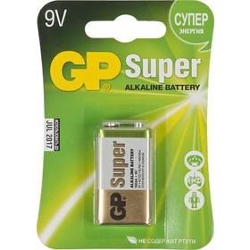 Фото Батарея GP Super Alkaline 1604A 6LR61, 1 шт 9V, 550мAч. Интернет-магазин Vseinet.ru Пенза
