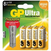 Батарея GP Ultra Alkaline 15AU/FT (+ фонарик) LR6 AA (8шт. уп). Интернет-магазин Vseinet.ru Пенза
