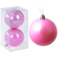 набор шаров пластик d-8 см жемчужная капель розовый (набор 2 шт) 1009328. Интернет-магазин Vseinet.ru Пенза