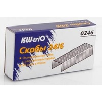 Скобы для степлера KW-TRIO 0246, 24/6, картонная коробка. Интернет-магазин Vseinet.ru Пенза