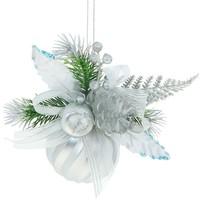 Фото шар пластик декор d-6 см веточки серебро 705776. Интернет-магазин Vseinet.ru Пенза