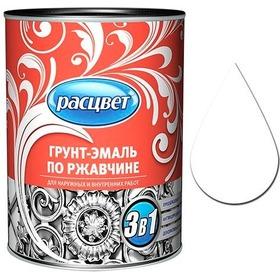 """Фото Грунт-эмаль по ржавчине алкидная 0,9 кг. """"РАСЦВЕТ"""" белая. Интернет-магазин Vseinet.ru Пенза"""