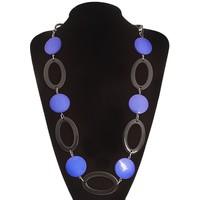 """Бусы 3 яруса """"Стиль"""", овал крупный, цвет черно-синий, 70 см 1100776, Queen Fair. Интернет-магазин Vseinet.ru Пенза"""