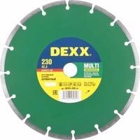Круг отрезной алмазный DEXX 36701-230 z01 универсальный, сегментный, для УШМ, 230х7х22,2мм. Интернет-магазин Vseinet.ru Пенза