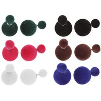 Серьги пластик Dr бархатные, цвет МИКС 1098100. Интернет-магазин Vseinet.ru Пенза