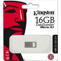 Флешка Kingston DataTraveler Micro 3.1 16 Гб, USB 3.1, серебристая (DTMC3/16Gb). Интернет-магазин Vseinet.ru Пенза
