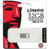 Флешка Kingston DataTraveler DTMC3 32 Гб, USB 3.0, серебристая (DTMC3/32Gb). Интернет-магазин Vseinet.ru Пенза