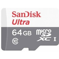 Флеш карта microSDXC 64Gb Class10 Sandisk SDSQUNB-064G-GN3MN w/o adapter. Интернет-магазин Vseinet.ru Пенза
