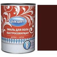 """Эмаль """"Расцвет"""" для пола быстросохнущая красно-коричневая 0,9 кг.. Интернет-магазин Vseinet.ru Пенза"""