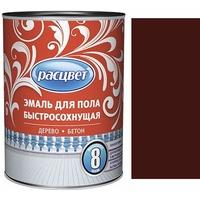 """Эмаль """"Расцвет"""" для пола быстросохнущая красно-коричневая 1,9 кг.. Интернет-магазин Vseinet.ru Пенза"""