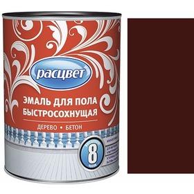 """Фото Эмаль """"Расцвет"""" для пола быстросохнущая красно-коричневая 1,9 кг.. Интернет-магазин Vseinet.ru Пенза"""