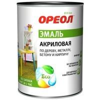 Эмаль акриловая матовая ОРЕОЛ белая 0,9 кг.. Интернет-магазин Vseinet.ru Пенза