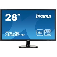 "Монитор Iiyama 28"" X2888HS-B1 черный MVA LED 5ms 16:9 DVI HDMI M/M матовая 3000:1 300cd 160гр/160гр 1920x1080 D-Sub DisplayPort 4кг. Интернет-магазин Vseinet.ru Пенза"