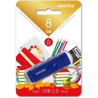 Флешка SmartBuy Dock  SB8GBDK-B 8Гб,  USB 2.0, голубой (SB8GBDK-B). Интернет-магазин Vseinet.ru Пенза