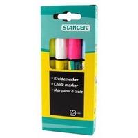 Набор маркеров Stanger 620030 3мм меловые кол-во цветов:4 желтый/белый/розовый/синий. Интернет-магазин Vseinet.ru Пенза