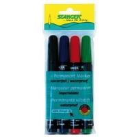 Набор маркеров Stanger M236 712020 скошенный пишущий наконечник 1-4мм перманентные кол-во цветов:4. Интернет-магазин Vseinet.ru Пенза