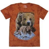 "Футболка мужская ""Collorista 3D"" Brown Bears р-р S(46-48), 100% хлопок, трикотаж 1048953, Collorista. Интернет-магазин Vseinet.ru Пенза"
