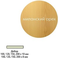 Добор ПВХ (мил.орех) 120 *10*2070 мм. Интернет-магазин Vseinet.ru Пенза