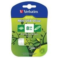 Флешка VERBATIM Store'n'Go Mini Стихии 8Гб,  USB 2.0, зеленая с рисунком «Земля» (98160). Интернет-магазин Vseinet.ru Пенза