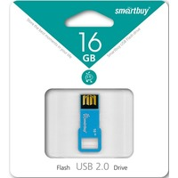 Флешка SmartBuy BIZ SB16GBBIZ-Bl 16 Гб,  USB 2.0, голубой (SB16GBBIZ-Bl). Интернет-магазин Vseinet.ru Пенза