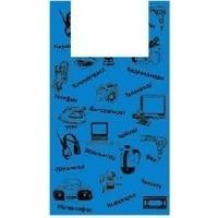 АРТПЛАСТ Пакет-майка 43+20х64 Электроника синий. Интернет-магазин Vseinet.ru Пенза