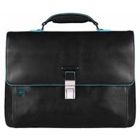 Портфель PIQUADRO Blue Square (CA3111B2/N) черный телячья кожа. Интернет-магазин Vseinet.ru Пенза