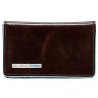 Чехол для кредитных/визитных карт Piquadro Blue Square (PP1263B2/MO) телячья кожа. Интернет-магазин Vseinet.ru Пенза