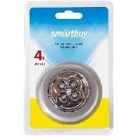 SMARTBUY SBF-831-S PUSH LIGHT 1шт х 4 LED/3AAA серебристый. Интернет-магазин Vseinet.ru Пенза