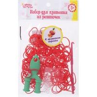 Набор плетение из резиночек красные 200 шт, крючок, крепления, пяльцы, аромат персика 1180600, Школа талантов. Интернет-магазин Vseinet.ru Пенза