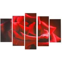 """Картина модульная на холсте """"Алая роза"""" 80*140 см   1224162, Сюжет. Интернет-магазин Vseinet.ru Пенза"""