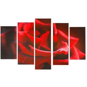 """Картина модульная на холсте """"Алая роза"""" 80*140 см   1224162, Сюжет"""
