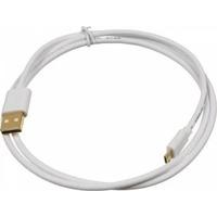 Кабель USB2.0 Gold Plated, 2A, Square, White USB A (m)/micro USB B (m) 1м. Интернет-магазин Vseinet.ru Пенза