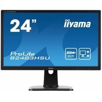 "Монитор Iiyama 24"" B2483HSU-B1DP черный TN+film LED 2ms 16:9 DVI M/M матовая HAS Pivot 1000:1 250cd 160гр/160гр 1920x1080 D-Sub DisplayPort USB 4кг. Интернет-магазин Vseinet.ru Пенза"