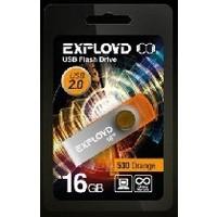 Флешка Exployd 530 16Гб,  USB 2.0, оранжевая (EX016GB530-O). Интернет-магазин Vseinet.ru Пенза