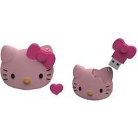 Флешка Iconik Hello Kitty FACE 16 Гб,  USB 2.0, розовая (RB-HKF-16GB). Интернет-магазин Vseinet.ru Пенза