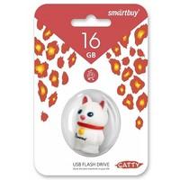 Флешка SmartBuy Wild  Catty  16 Гб,  USB 2.0, белая (SB16GBCatW). Интернет-магазин Vseinet.ru Пенза