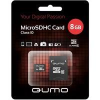 Карта памяти QUMO micro SDHC 8Гб, Class 10, адаптер SD(QM8GMICSDHC10). Интернет-магазин Vseinet.ru Пенза