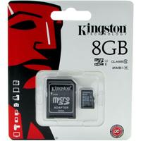 Карта памяти Kingston micro SDHC 8Гб, Class 10 UHS-I, адаптер SD(SDC10G2/8GB). Интернет-магазин Vseinet.ru Пенза