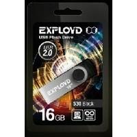 Флешка Exployd 530 16Гб,  USB 2.0, черная (EX016GB530-B). Интернет-магазин Vseinet.ru Пенза