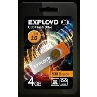Флешка Exployd 530 4Гб,  USB 2.0, оранжевая (EX004GB530-O). Интернет-магазин Vseinet.ru Пенза