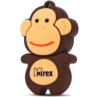 Флешка Mirex DIGITAL KIDS Monkey 4Гб,  USB 2.0, коричневая (13600-KIDMKB04). Интернет-магазин Vseinet.ru Пенза