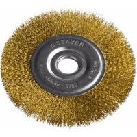 """Щетка Stayer 35122-150 """"PROFESSIONAL"""" дисковая для УШМ, витая стальная латунированная проволока 0,3мм, 150мм/22мм. Интернет-магазин Vseinet.ru Пенза"""